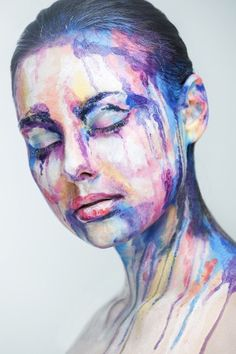 Faces cleverly disguised as art paintings with 2D makeup » Lost At E Minor: For creative people