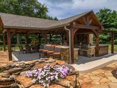 The Outdoor Entertaining Space Has Everything Needed for Gatherings