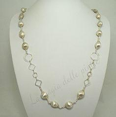 Collana con perle satinate | La magia delle pietre
