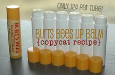 I love Burts Bees Lip Balm but, it's so expensive.  This recipe is fast, easy, and inexpensive.