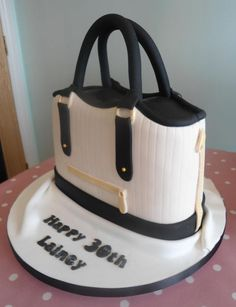 100% edible cake in the style of a Ted Baker handbag.