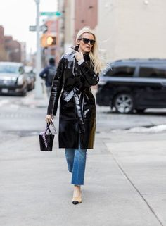 Embrace The Vinyl Trend With This Street Style Inspiration
