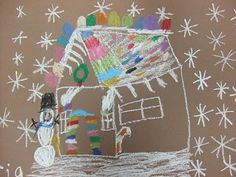 Easy Gingerbread Houses crayon project ( great assignment for keeping students busy when they finish there other assignments early)