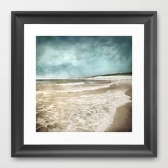 Tarifa beach at summer Framed Art Print by Guido Montañés - $37.00