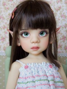 Kaye Wiggs 034 Talyssa Elf 034 BJD Doll OOAK Face Up by Buttons Amp Butterflies Mint | eBay