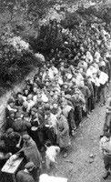 Italian partisans of the Val di Lanzo in transit in France - Bonneval, Savoy, September 18, 1944