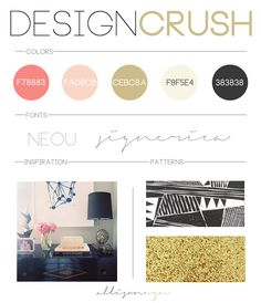 black pink and gold design.