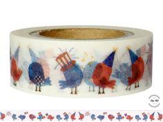 Masking Tape - Washi Tape AMERICAN VÖGEL - ein Designerstück von Fitzi-Floet bei DaWanda