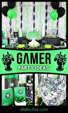 Help your gamer level up with cool video gamer birthday party supplies. Shop party favor stickers and more with their favorite gamer sayings and symbols. Teenage Boy Birthday, Boy 16th Birthday, Birthday Themes For Boys, Teenage Boy Party, 15th Birthday Party Ideas, Birthday Party Games, Birthday Party Decorations, Boys Party Ideas, Game Truck Party