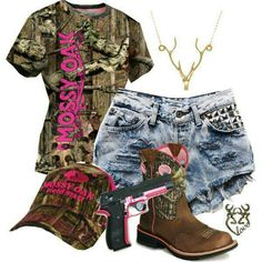 Mossy Oak tee with some cut offs..Perfect!