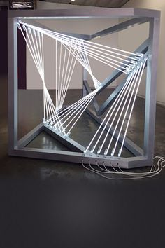 Architecture Building Design, Pavilion Architecture, Tower Models, Hanging Mobile, Loft Style, White Space, Cubes, Architects, Theater
