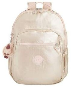 500a2a28917 Kipling Ellaria Backpack (Metallic Pink Plum Stripe) Backpack Bags ...