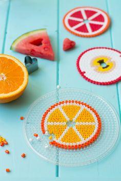 Fruchtalarm Glasabdeckung- und Untersetzer mit Bügelperlen