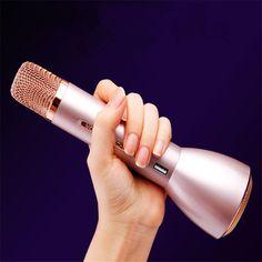 Hot Slae K088 Portable Wireless bluetooth Microphone Karaoke Outdoor KTV K Song for iphone7 Power Bank Microphones Mic Speaker