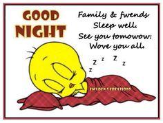 Tweety Bird Good Night tweety bird goodnight good night goodnight quotes goodnight quote goodnite