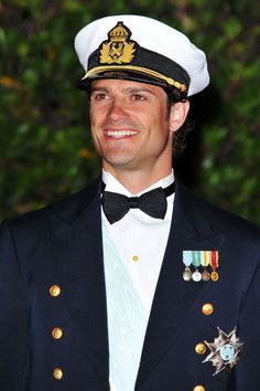 Prince Carl Philip (Carl Philip Edmund Bertil) (13 May 1979-living2015) Duke of Värmland, Sweden at the royal wedding of Prince Albert II of Monaco & Princess Charlene of Monaco in 2011 by unknown photographer in Popsugar Celebrity Magazine. 2nd child of King Carl XVI Gustaf (Carl Gustaf Folke Hubertus) (30 Apr 1946-living2015) Sweden & wife Queen Silvia (Silvia Renate Sommerlath) (23 Dec 1943-living2015) Germany.