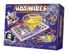 Over 100 action packed experiments involving light, sound and movement in this Hot Wires Electronics Kit. Science Games For Kids, Electronic Kits, Lie Detector, School Memories, Fun Learning, Wire, Voice Recorder, Action, Electronics