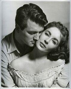 Elizabeth Taylor and Rock Hudson for ;Giant& 1956.
