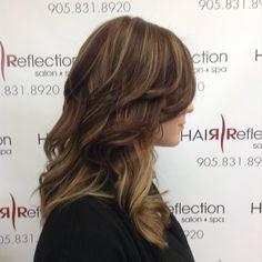 Stunning #balayage done on Jenna! #hairbyjules #hair #hairreflection #salon #pickering
