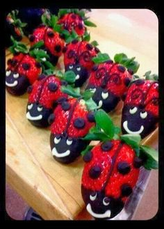Ladybird strawberry