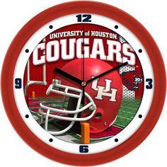 NCAA Houston Cougars Football Helmet Wall Clock