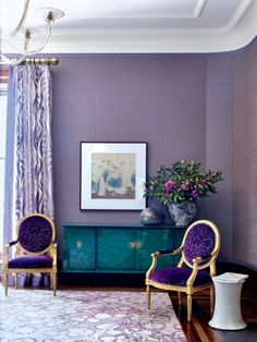 Purple Living Room trendy living room photo in toronto with purple walls Home Design Trends For Fallwinter 2016 You Must Follow