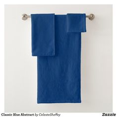 Classic Blue Abstract Bath Towel Set