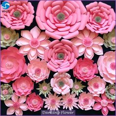 Wedding Decorative Backdrop giant paper wall flower for wedding decoration, View giant paper wall flower, Dancing Flower Product Details from Wuhan Jiang Tuo Trading Co., Ltd. on Alibaba.com