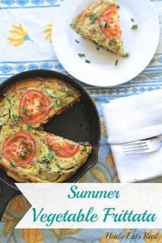 Paleo Summer Vegetable Frittata Recipe - Healy Eats Real #frittata #vegetable #summer #paleo #dairyfree