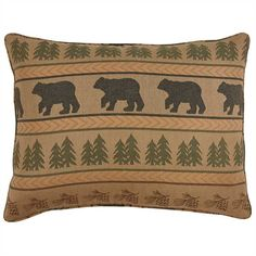 Part of the Bear Tracks bedding collection, the Bear Tracks Standard Pillow Sham measures 21 x 27 from Park Designs. Plaid Bedding, Rustic Bedding, Luxury Bedding Collections, Luxury Bedding Sets, Duvet Cover Sale, Black Bear Decor, Red Pillows, Queen Beds, Pillow Shams