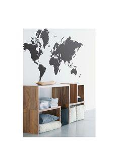 Die ganze Welt bei Dir zu Hause! Wandsticker World Map von ferm LIVING