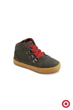 Here's a pair of boots that'll take your little guy places this Christmas. Cool style plus cushioned comfort will make him ready for a busy-fun holiday season.