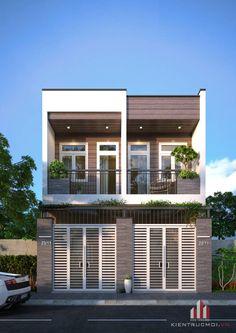 Hiện trạng công trình là 1 căn nhà. Nhu cầu của chủ đầu tư là muốn cải tạo thành 2 căn nhà riêng biệt nhưng hình thức phải hài hòa, gắn kết nhau.