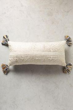 Slide View: 8: Tasseled Pointilliste Pillow