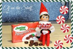 Elf on the Shelf found the Junior Mint Peppermint Crunch candies from Target.. yum!