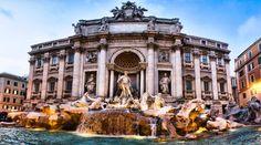 La Fontana de Trevi es uno de los grandes monumentos barrocos de Roma. Espectacular, romántica, mítica...