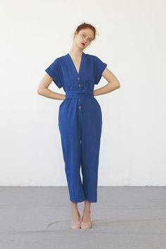 AIKO jumpsuit (washed indigo cotton)
