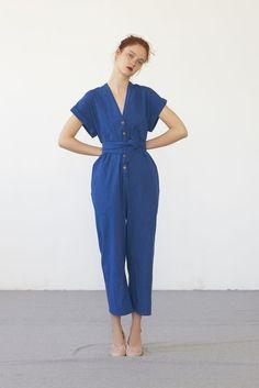 AIKO jumpsuit (washed indigo cotton)