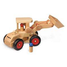 von FAGUS Traktor-Anhänger aus masiv Holz B-WARE