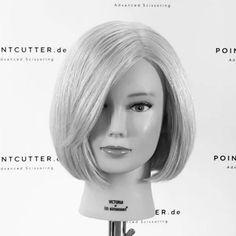 Hair Cutting Videos, Hair Cutting Techniques, Hair Color Techniques, Hair Videos, Hair Cut Guide, Short Hair Cuts, Short Hair Styles, Hair Curling Tips, Stylish Short Hair