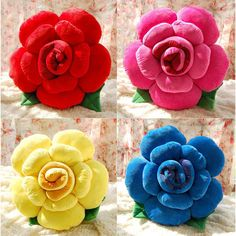 Flower Bed Sofa Car Seat Throw Cushion Pillow Cover Case Wedding Gift Home Decor