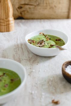 This easy creamy broccoli soup is rich, comforting and topped with crispy shallots. It's also paleo, gluten free, vegetarian and vegan.