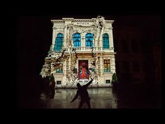Dancing House: Interactive Projection Mapping Crumbles House to Movement - My Modern Met