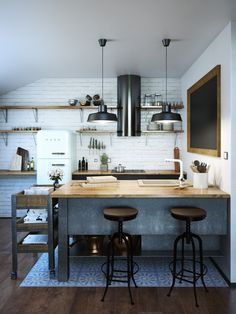 House Rules' first home reveal - The Interiors Addict Kitchen Interior, Kitchen Inspirations, Concrete Kitchen, House, Transitional House, Kitchen Remodel, House Interior, House Rules, Kitchen Renovation