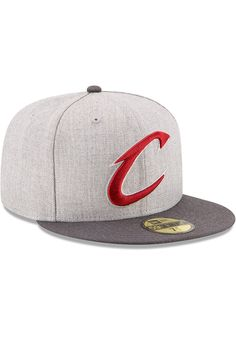 b39f30cb293 New Era Cleveland Cavaliers Mens Grey Heather Action 59FIFTY Fitted Hat