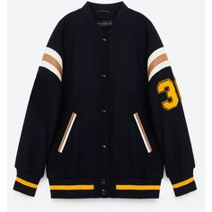 COLLEGE BOMBER JACKET - NEW IN-WOMAN | ZARA United States ($50) ❤ liked on Polyvore featuring outerwear, jackets, flight jacket, bomber style jacket, blouson jacket and bomber jacket