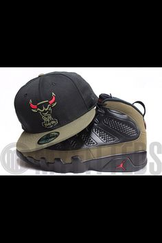 afbdf8dfc5d Chicago Bulls the Trace Jet Black Alpine Olive Drab Radiant Red New Era  Fitted Hat