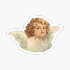 Discover the coolest stickers Stickers Cool, Bubble Stickers, Meme Stickers, Printable Stickers, Laptop Stickers, Victorian Angels, Angel Drawing, Angel Aesthetic, Aesthetic Painting