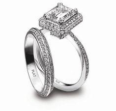 GORGEOUS!!! Precious Platinum - Princess Halo Ring