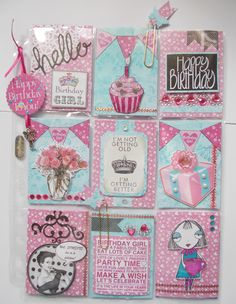 Pink & turquoise Birthday PL